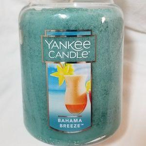 Yankee Candle Large BAHAMA BREEZE 22 oz Blue